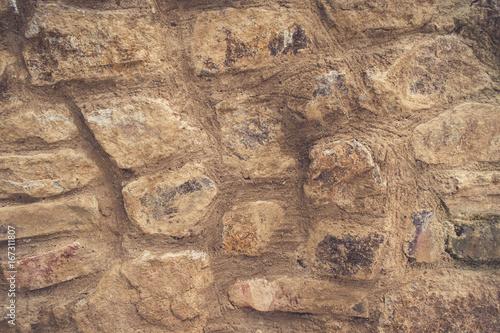 Foto op Aluminium Stenen Muro de piedras grandes egipcio