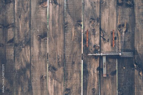 Fotobehang Koffiebonen Puerta de madera vintage