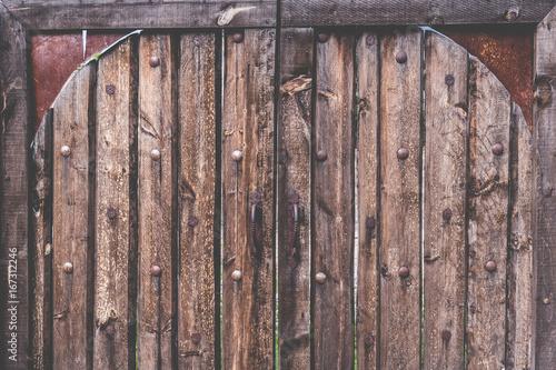 Fotobehang Koffiebonen Puerta vieja de madera