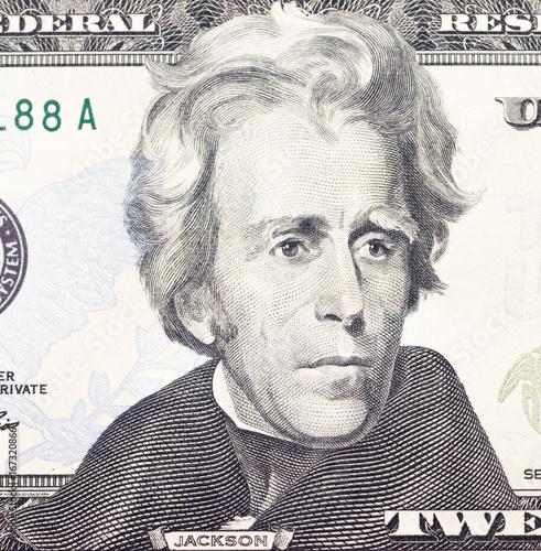 Andrew  Jackson  portrait on dollar bill Poster