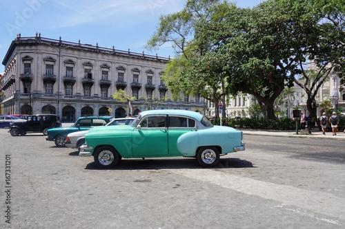 Fotobehang Havana in den Straßen von Havanna auf Kuba, Karibik