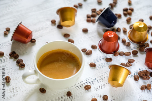 Wall mural Cup of espresso coffee