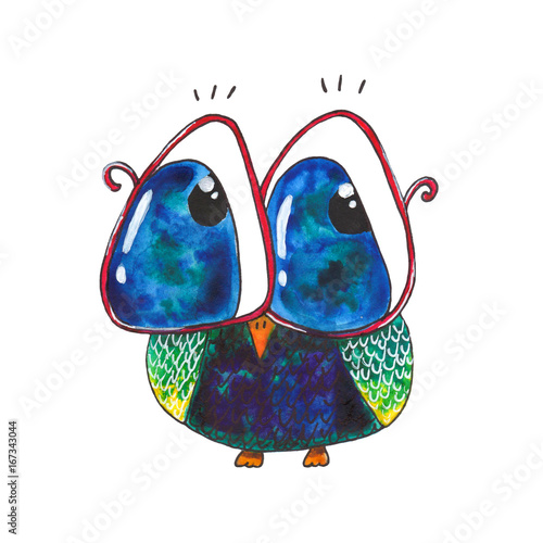 Cute watercolor owl