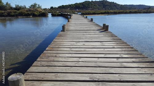 Foto op Aluminium Pier Etand de Peyriac de mer