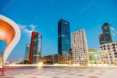 Deurstickers Wenen Skyscrapers and modern architecture in Vienna Austria