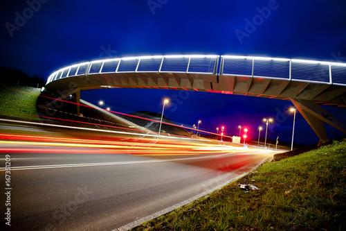 Foto op Aluminium Nacht snelweg Light speed