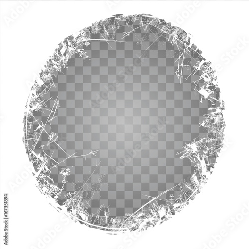 frozen window texture on a transparent background frosted glass new year background vector