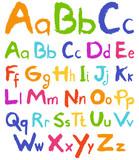 Colorful hand drawn vector alphabet