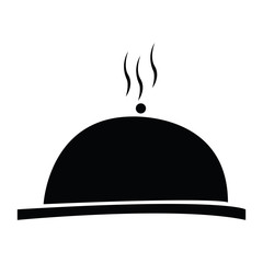 Isolated cloche silhouette on a white background, vector illustration