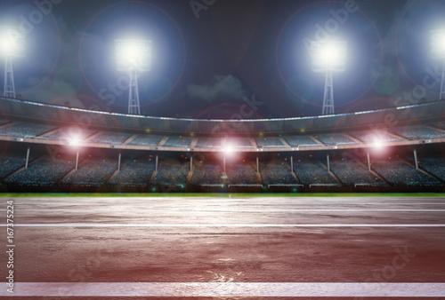 running track with stadium