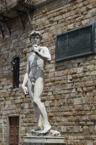 Statue of David by Michelangelo in Florence Poster