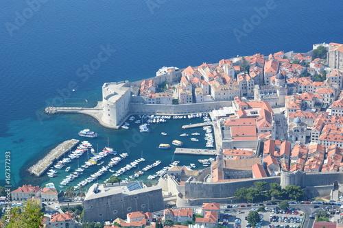 Old town harbor. Dubrovnik. Dalmatia. Croatia Poster