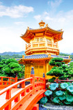 Nan Lian Garden in Diamond Hill, Hong Kong. The free-entry public park has an area of 3.5 hectares and was designed after the Tang Dynasty style of architecture. - 167379872