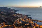 Santa Cruz de La Palma na wschodzie słońca. Wyspy Kanaryjskie
