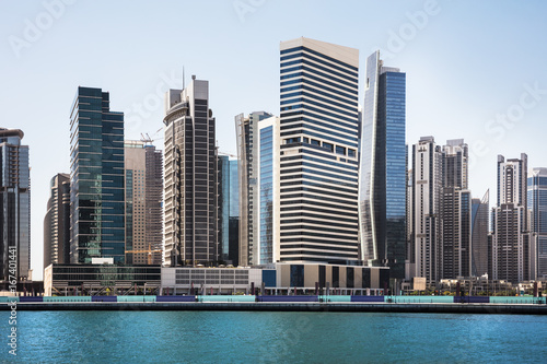 Spoed canvasdoek 2cm dik Dubai Dubai Business Bay Skyline