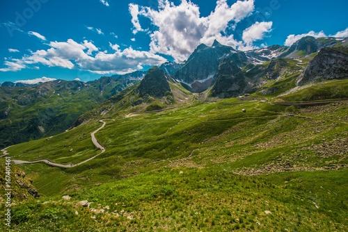 Fridge magnet Alpine Pass Road