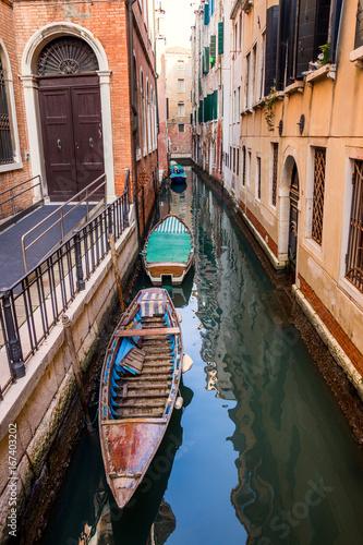 Spoed canvasdoek 2cm dik Venetie Canal gondola Venice Italy