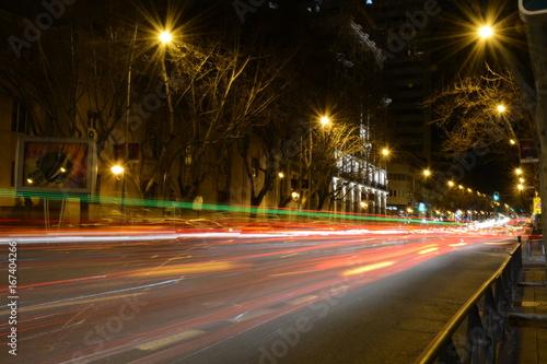 Noches por Madrid, calles con exposición larga