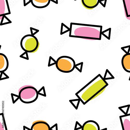 Materiał do szycia kbecca_vector_halloween_candy_pattern_seamless_tile