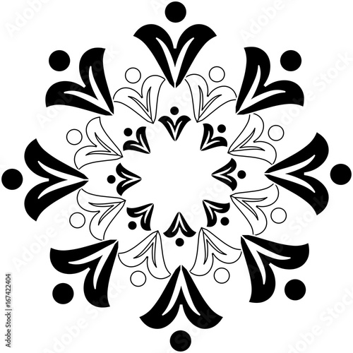 Abstract image,ornament,floral motif,tapestry - 167422404