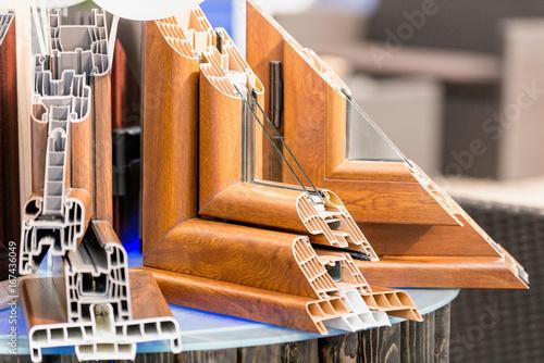 Foto Murales Selection of window profiles