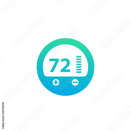 thermostat icon vector pictogram on white buy photos ap images