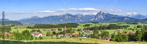 Foto op Canvas Panoramafoto s herrliches Ostallgäu bei Eisenberg