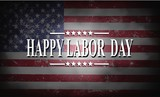 Happy Labor Day background with USA flag - 167463821