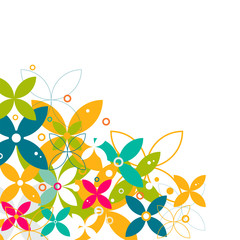 colorful flower pattern and graphic decoration, contemporary graphic pattern.