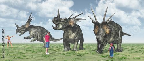 Tuinposter Amusementspark Im Park der Dinosaurier