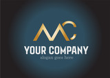 Golden MC Logo Design Vector - 167472872