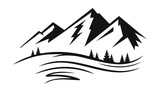 Mountain and landscape vector