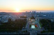 """Panorama of the business district """"La Defense"""" in Paris at sunset view from the Eiffel tower."""