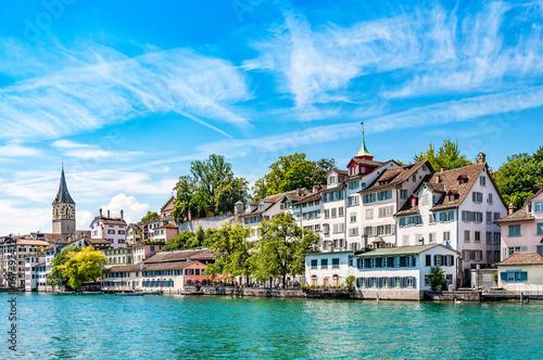 Fotobehang Pool Zürich - Schweiz - Panorama - Stadt - Europa