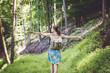 Girl enjoying nature i the forest