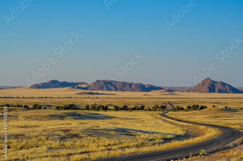 Staande foto Blauw Afrikanische Wüste