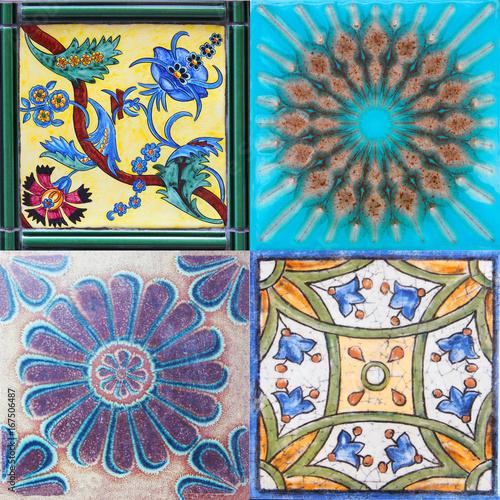 szczegol-tradycyjne-plytki-od-fasady-stary-dom-plytki-dekoracyjne-tradycyjne-kafelki-kwiatowy-ornament-majolika-akwarela-walencja