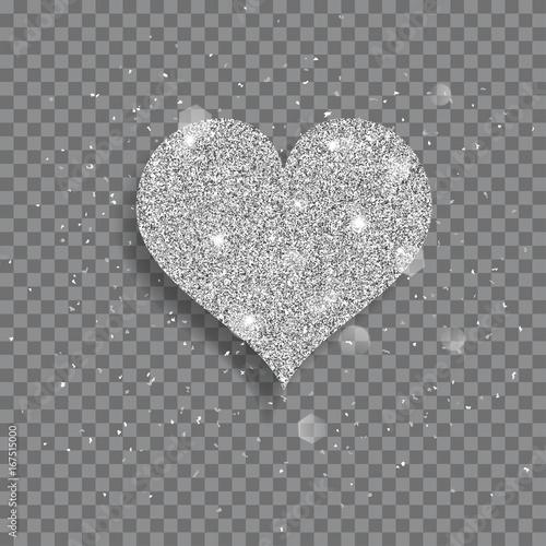 Wielkie błyszczące serce