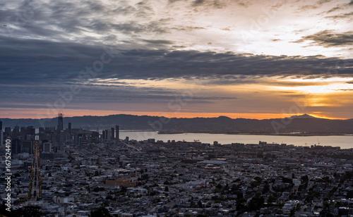 Plexiglas San Francisco The Bay Area at Sunrise