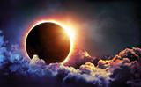 Solar Eclipse In Clouds - 167527034