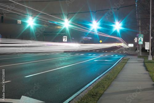 Foto op Aluminium Nacht snelweg Speed of light