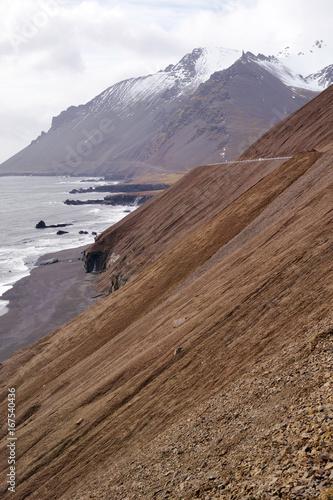 Foto op Canvas Cappuccino Coastal Cliffs Iceland