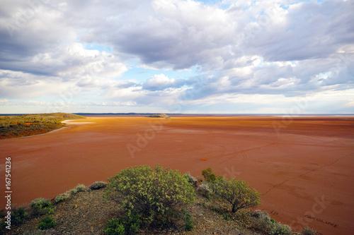 Spoed canvasdoek 2cm dik Blauwe hemel Lake Ballard Western Australia