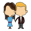 bride and groom romantic date and love concept vector illustration - 167546248