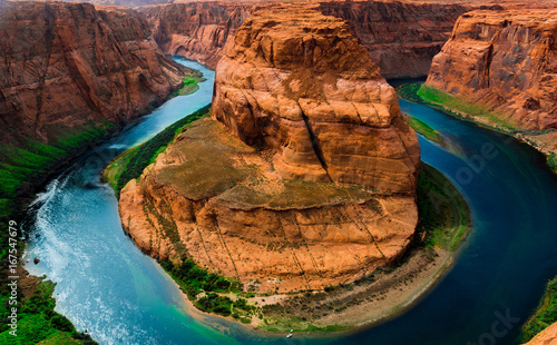 Deurstickers Arizona Horseshoe Bend Arizona Vibrant