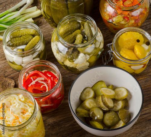 Fermented preserved vegetables