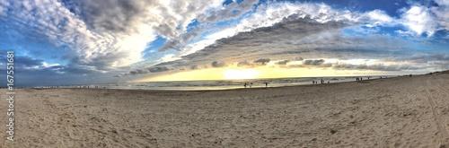 Foto op Canvas Panoramafoto s Strand von Egmond Niederlande als Panorama