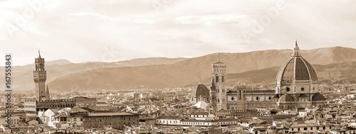 Florence Italy, Top view from Michelangelo Square