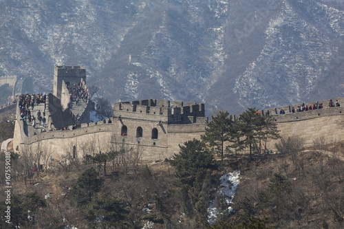 Foto op Canvas Peking Croweds at the Great Wall