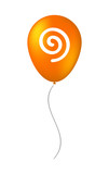 Isolated balloon with  a spiral - 167564634